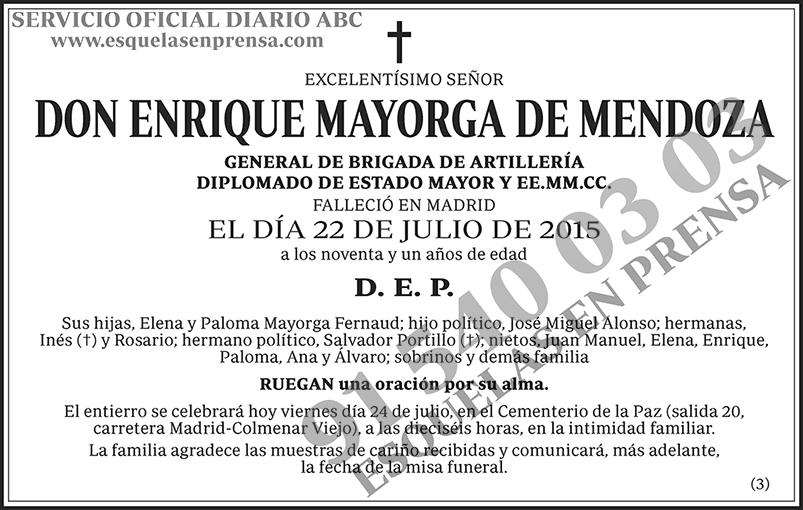 Enrique Mayorga de Mendoza